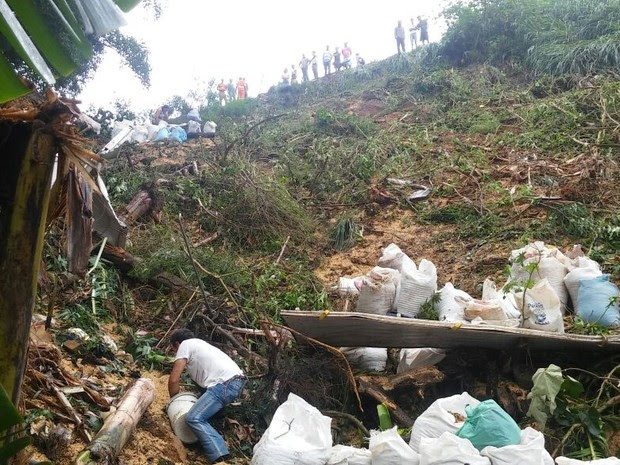 Por fim, caminhão caiu em barranco na BR-277, em Paranaguá (Foto: Thiago Rodrigues/RPC)