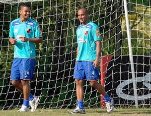 Deivid e David Bras no Flamengo (Foto: Maurício Val / Vipcomm)