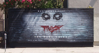The Dark Knight movie: Why so serious? wall mural on Melrose Blvd in Los Angeles