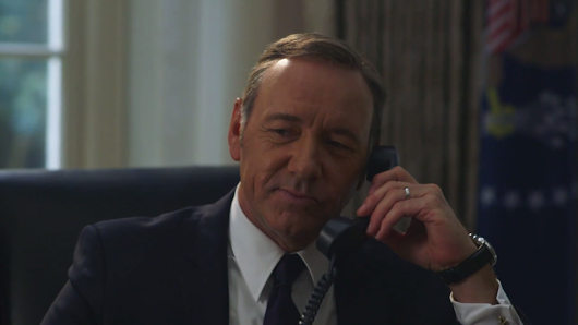 Frank Underwood tries to fool Hillary with his best Bill Clinton impression