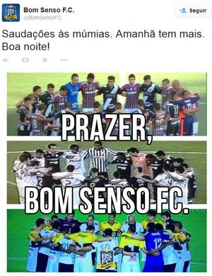 Bom Senso Múmias (Foto: Reprodução: Twitter Bom Senso FC)