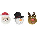 fabdog Holiday faball Squeaky Dog Toy 3 Pack - Snowman, Santa, Reindeer (Small)