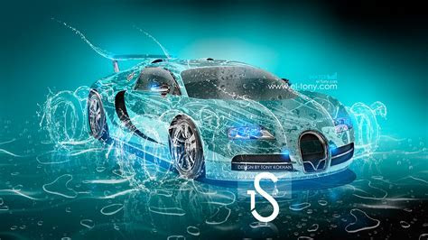 bugatti veyron water car 2013 hd wallpapers design by tony kokhan www el tony com    Mazphoto