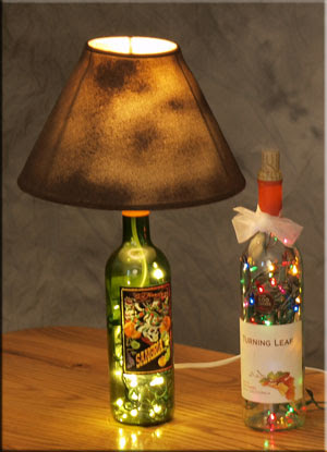 How To Make A Lamp Shade Easy Diy How To Make A Bottle Lamp