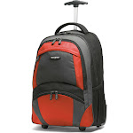"Samsonite 15.4"" Laptop Wheeled Backpack - Black/Orange"