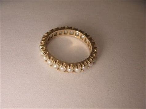 Gorgeous Victorian Estate 14K Yellow Gold Seed Pearl