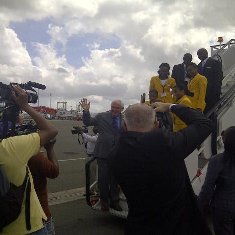 fastjet inaugural flight in Dar es Salaam