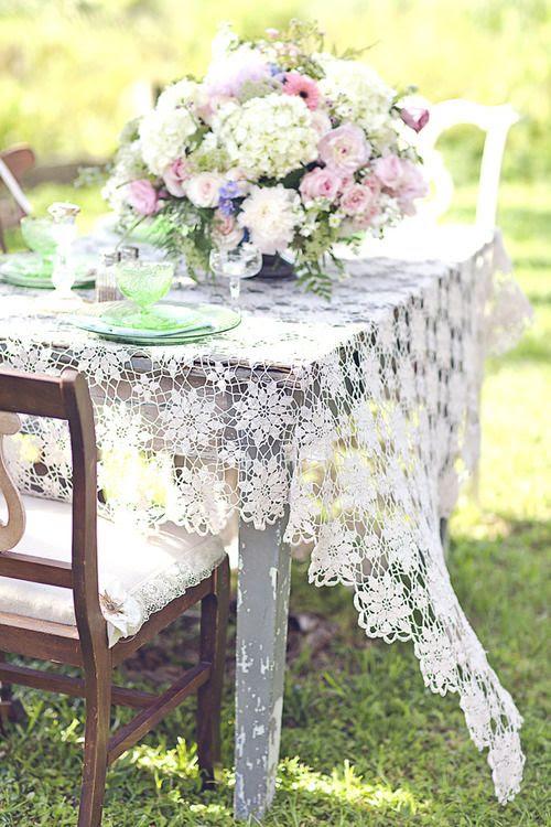 Outdoor tea table