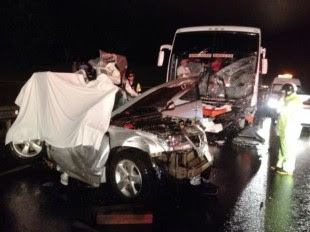 Dos adultos y una menor fallecieron en un accidente en la Ruta 27.