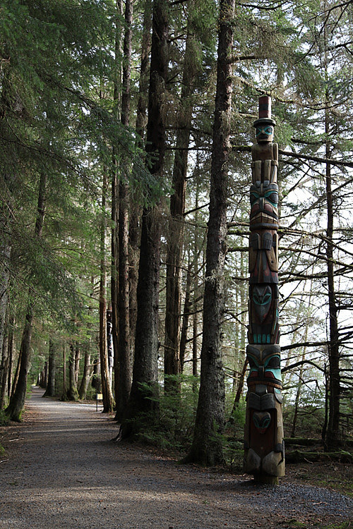 totem trail in Sitka, Alaska