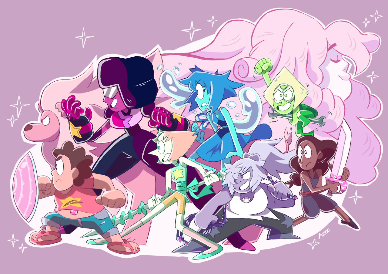 THE CRYSTAL GEMS Print available on Redbubble!
