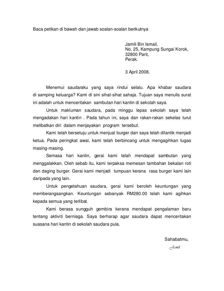 Contoh Karangan Surat Kiriman Rasmi Pt3  Contoh U