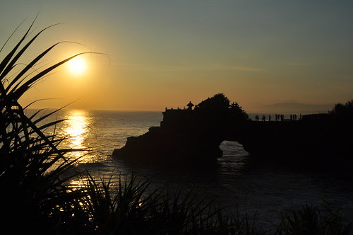 sunset at tanah lot 2