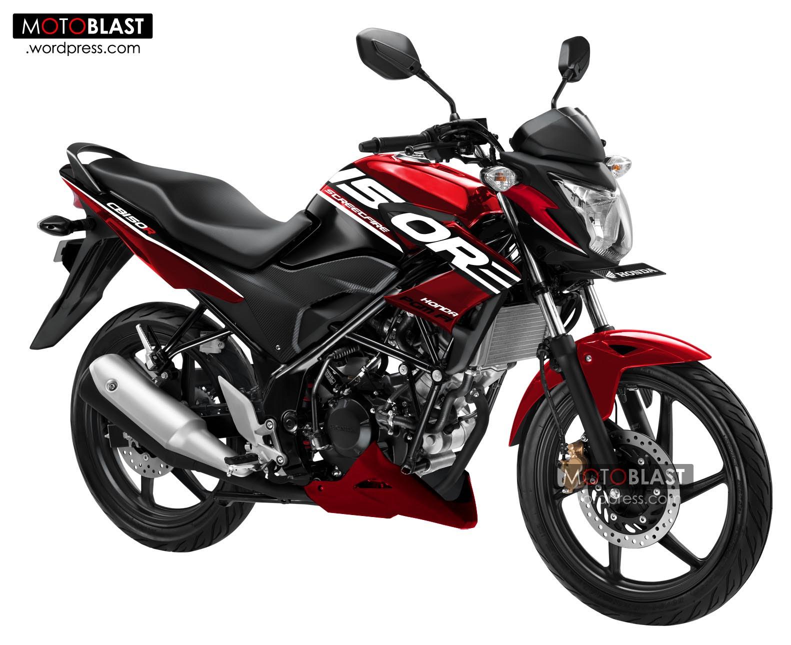 Foto Modif Motor Cb150r Warna Merah Modifikasi Motor Beat Terbaru