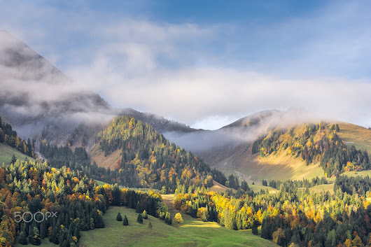 Fall in the Swiss Alps