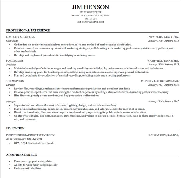 resume format best resume builder