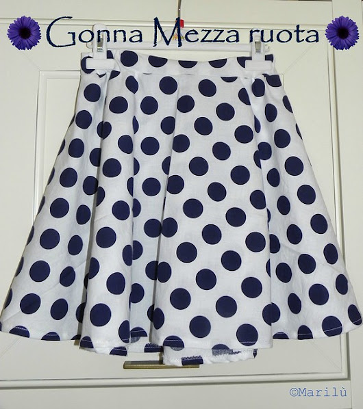 Gonna mezza ruota tutorial - half-circle skirt