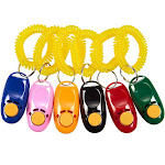 Juvale Pet Training Clicker - 6 Pack Dog Cat Clickers Wrist Strap in 6