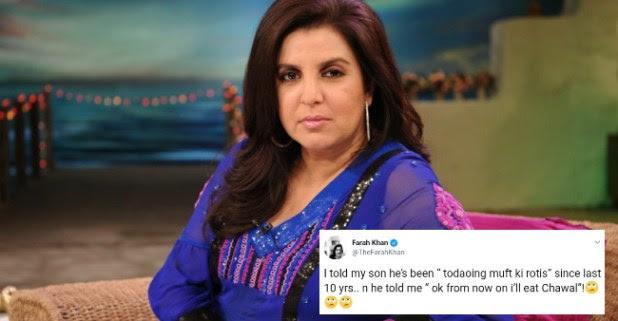 Farah Khan's witty tweet on social media surely deserves the best tweet of the week award