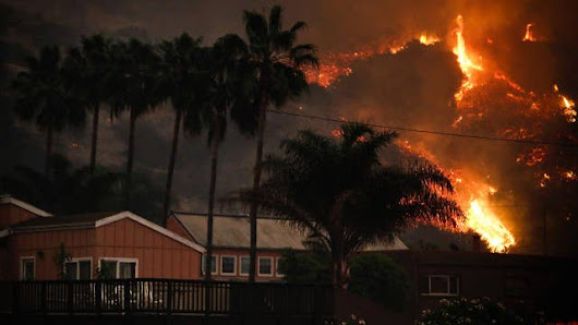 California wildfires forces real estate owner to evacuate twice