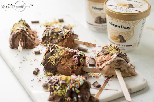 Easy Non-Dairy Ice Cream Pops - All Natural Sprinkles, Pistachios, Chocolate Shell