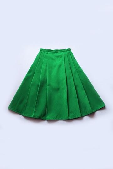 Vintage  Elegant Pleated Full Skirt