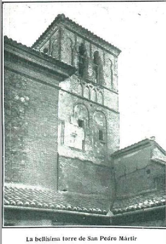Torre mudéjar de San Pedro Mártir en 1920. Fotografía de Pedro Román Martínez para La Esfera