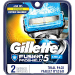 Gillette Fusion5 ProShield with 5 Anti-Friction Blades, Men's Razor Blades, 2 Count