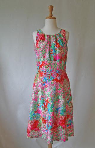 Bright silk dressfront1