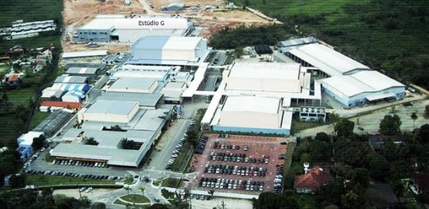 Vista aérea do RecNov, complexo de estúdios de novelas da Record inaugurado em 2009