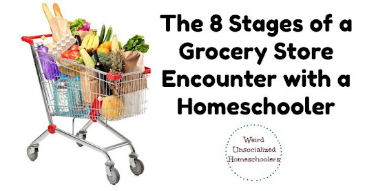 The 8 Stages of a Grocery Store Encounter with a Homeschooler