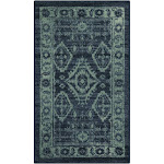 """1'8""""X2'10"""" Geometric Design Tufted Oval Accent Rug Navy - Maples"""