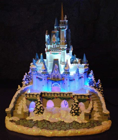 Disney Village Winter Cinderella Castle Figurine Lights