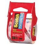 3M Scotch Packaging Tape In Sure Start Dispenser, Clear Size:142, 2 In X 800 In - 6 Rolls