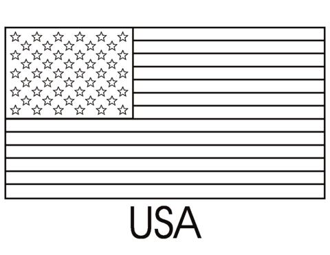 Dibujo De Bandera De Estados Unidos De América Para Colorear