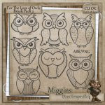 CU Hand Drawn For the love of Owls Digistamps and Abr 2