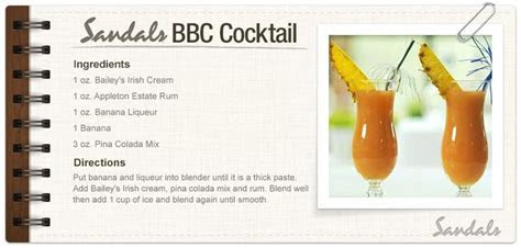 Sandals BBC Cocktail! My favorite drink while at Halcyon
