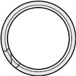 "Hy-ko Kb101 Split Key Ring, 1/2"", 100-pack"