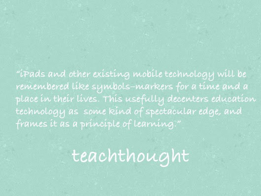 Education Technology As A Matter Of Principle