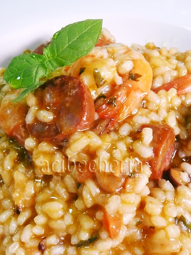 arroz con chorizo