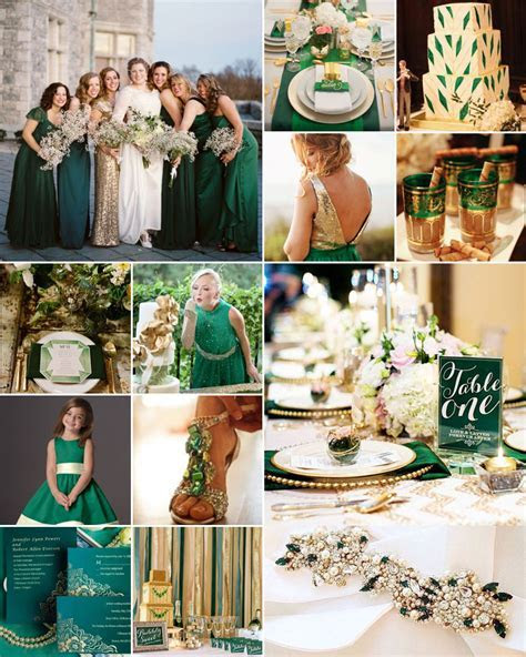 Emerald Green, Cream and Gold Weddings