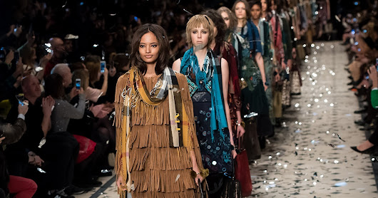 Burberry Brings Back Boho With a Riot of Patchwork and Prints