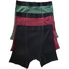 Variety 3 Pack of The XLarge Stashitware Men's Hidden Stash Pocket Underwear, 100% Cotton Black, Red & Green