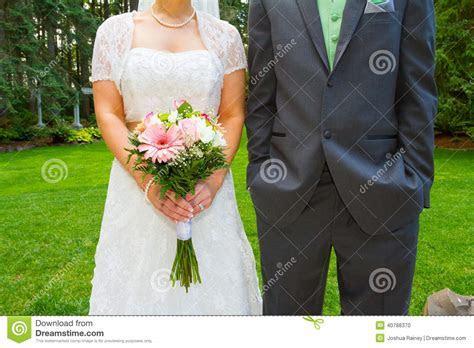 Bride And Groom Headless On Wedding Day Stock Photo