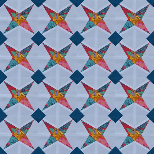 A bunch of modified tippecanoes - a mosaic from one block (I can't make them this fast)