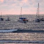 sunset at Quepos Harbour
