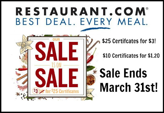 $3 Sale from Restaurant.com - Jen Around the World