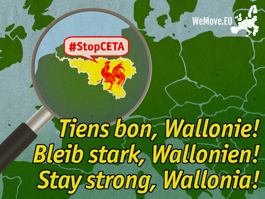 Support Wallonia to stop CETA!