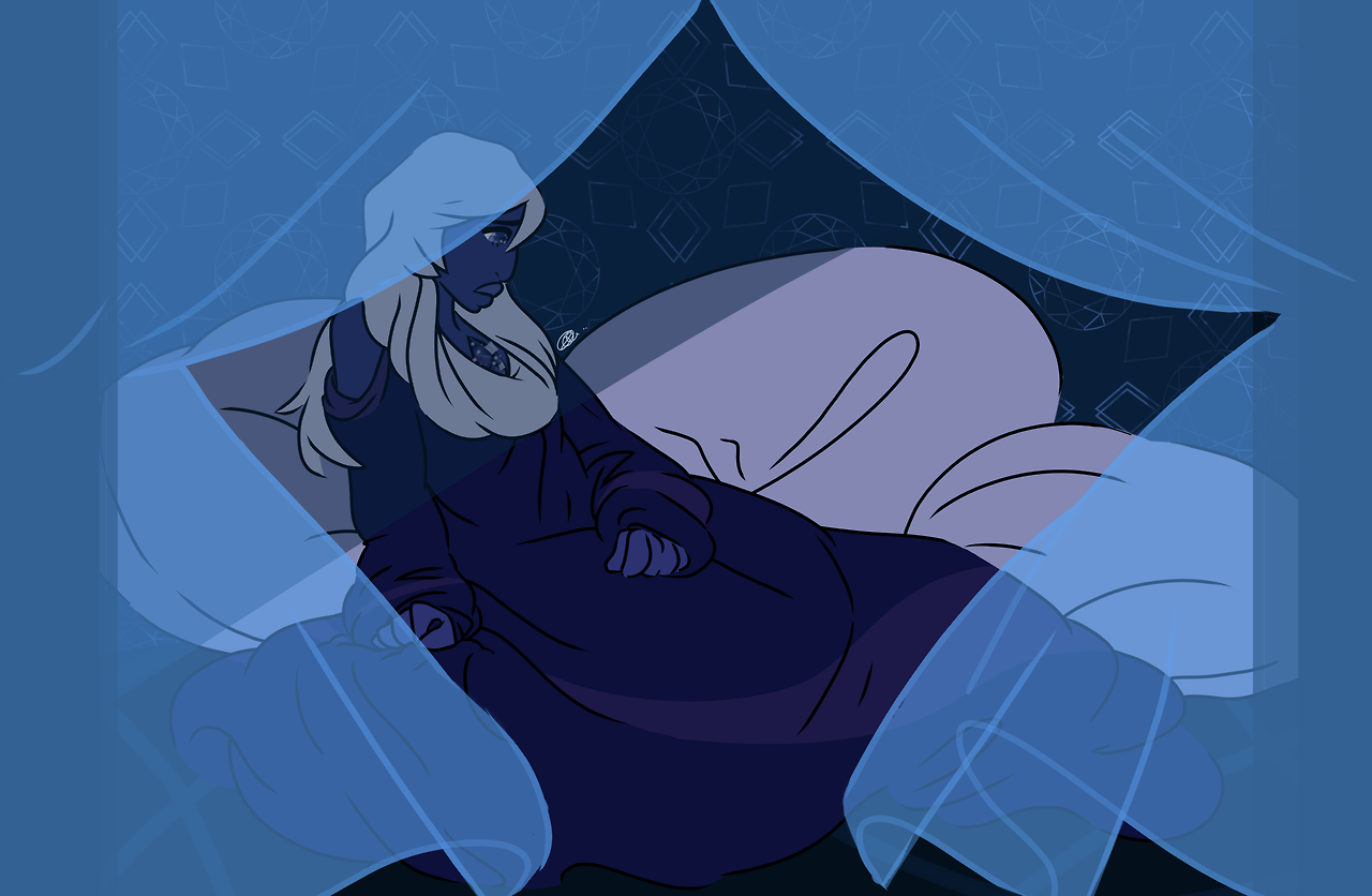 Shmoop! Here's a Blue Diamond with more muted and softer blues, I guess