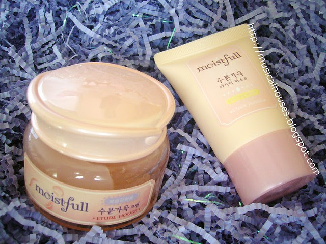etude house moistfull face cream and moitfull massage mask